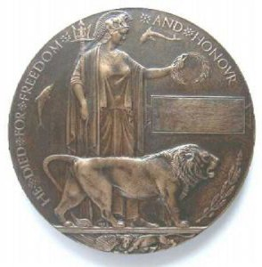 "An image of a Memorial Plaque similar to that commemorating Serjeant Ernest HARDY.  Colloquially referred to as a ""Dead Man's Penny"", this plaque is missing and is currently being sought by one of his descendants.  Can you help?"