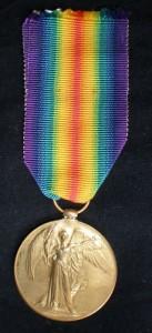 Victory medal First World War black background Medals Gone Missing  1914-1918