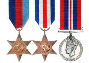 The  missing war medals posthumously awarded to Sergeant Victor GLEDHILL. They consist of the 1939-1945 Star, France & Germany Star and 1939-1945 War Medal.  Sergeant Victor GLEDHILL was killed in action whilst serving with 77 Squadron RAFVR (Royal Air Force Volunteer Reserve)