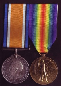 The British War Medal and Victory Medal, similar to those missing war medals awarded to Francis William BYROM and sold on eBay Australia during 2011. They are now in the hands of an unknown buyer. Would you consider kindly selling them back to his family? If so, please contact Medals Gone Missing.