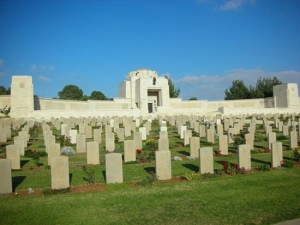 Commonwealth War Graves Commission photograph of the Jerusalem War Cemetery where Private Wallace Frederick WILSON was laid to rest.  His Memorial Plaque is missing.  Can you help?