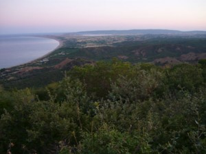Suvla Bay, Gallipoli as seen from The Nek at dawn on 7 August 2015 during the Centenary Commemorations of the August Offensive.  Photo taken by Medals Gone Missing.