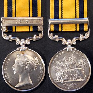 The South Africa Medal of 1880, commonly referred to as the 'Zulu War' Medal.