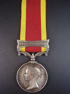 A China Medal, similar to that awarded to Samuel Robert DICK. Samuel was awarded the China Medal with clasp for Taku Fort and the Defence of Legations –Royal Marine Light Infantry –earned during the Boxer Rebellion in China 1901. This medal is missing and being sought by his descendants. Can you help?