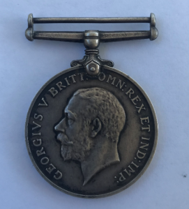 British War Medal of William McGunigal