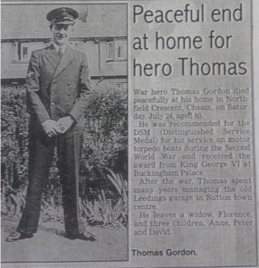 Newspaper clipping telling of our grandfather's death.