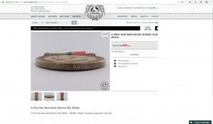 The missing First World War Mercantile Marine War impresses MAHD. GAMA. medal as it appeared on the eMedals website. If you purchased this medal, would you kindly consider selling it back to the family?